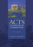 Acts  An Exegetical Commentary