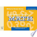 Write to Know: Nonfiction Writing Prompts for Lower Elementary Math Free download PDF and Read online