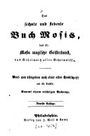 Das sechste und siebente Buch Mosis
