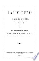 Daily Duty A Book For Girls