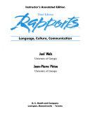 Rapports Language, Culture, Communication