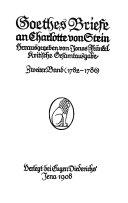 Goethes Briefe an Charlotte von Stein