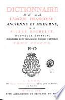 Dictionnaire de la langue franc  oise  ancienne et moderne