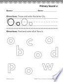 Kindergarten Foundational Phonics Skills  Primary Sound o