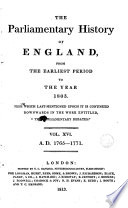 THE Parlamiamentary History OF ENGLAND,