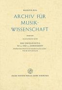 Der Contrapunctus im 14. [i. e. vierzehnten] und 15. Jahrhundert