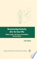 Reconstructing Patriarchy after the Great War