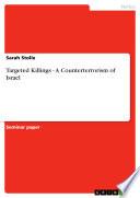 Targeted Killings   A Counterterrorism of Israel