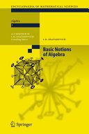 Basic Notions of Algebra