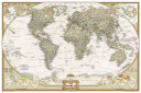 World Executive Poster Size Map