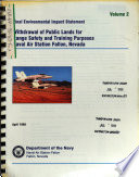 Fallon Naval Air Station  Withdrawal of Public Lands for Range Safety and Training Purposes