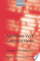 Auxiliary Verb Constructions