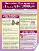 Behavior Management in Early Childhood  Guidance and Activities That Work