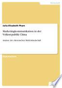 Marketingkommunikation in der Volksrepublik China