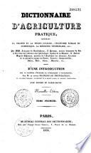 Dictionnaire d agriculture pratique