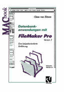 Datenbankanwendungen mit FileMaker Pro Version 2