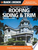Black   Decker The Complete Guide to Roofing   Siding