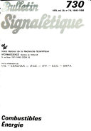 Bulletin signal  tique 730  Combustible    nergie
