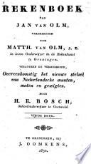Rekenboek van Jan van Olm