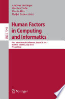 Human Factors in Computing and Informatics
