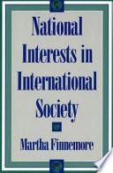 National Interests in International Society