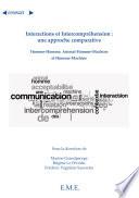 Interactions et Intercompréhension : une approche comparative