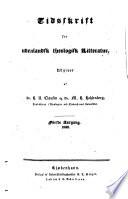 Tidsskrift for udenlandsk theologisk litteratur