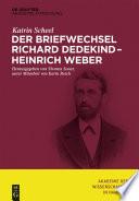 Der Briefwechsel Richard Dedekind – Heinrich Weber