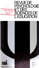 Revue de psychologie et des sciences de l'education