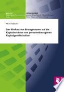 Der Einfluss von Ertragsteuern auf die Kapitalstruktur von personenbezogenen Kapitalgesellschaften