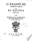 C. Erasmi Michaelii Laeti De re nautica