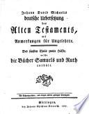 Johann David Michaelis deutsche Uebersetzung des Alten Testaments