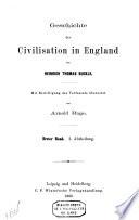 Geschichte der Civilation in England