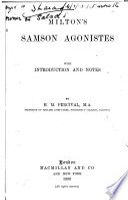 Milton s Samson Agonistes Book PDF
