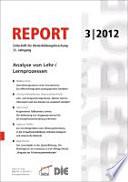 REPORT 03/2012 - Analyse von Lehr-/Lernprozessen