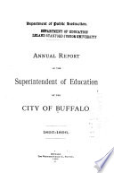 Annual Report Of The Superintendent Of Education For The Year Ending