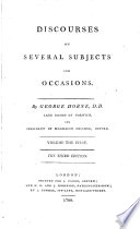 Discourses on several subjects and occasions. Vol. 1,2, 3rd ed.; 3,4. Vol. 1,2, [another] 3rd ed.; 3,4, 2nd ed