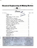 Chemical Engineering and Mining Review Book PDF
