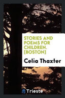 Stories and Poems for Children   Boston