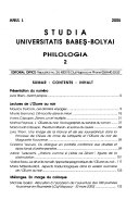 Studia Universitatis Babeș-Bolyai
