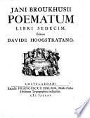 Poematum libri sedecim  editore Davide Hoogstratano