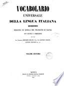 Vocabulario Universale della Lingua Italiana