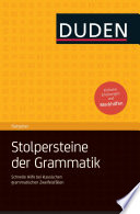 Duden Ratgeber   Stolpersteine der Grammatik