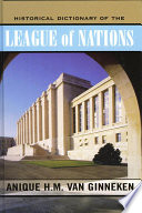 Historical Dictionary of the League of Nations