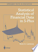 Statistical Analysis of Financial Data in S Plus