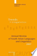 Annual Review of South Asian Languages and Linguistics  2007