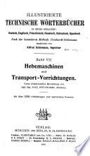 Hebemaschinen und Transport Vorwichtungen