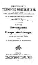 Hebemaschinen und Transport-Vorwichtungen