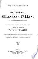 Vocabolario milanese italiano coi segni per la pronuncia