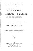 Vocabolario milanese-italiano coi segni per la pronuncia